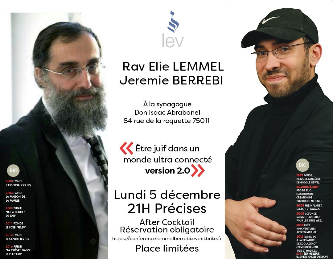 Conference Rav Elie Lemmel & Jeremie Berrebi